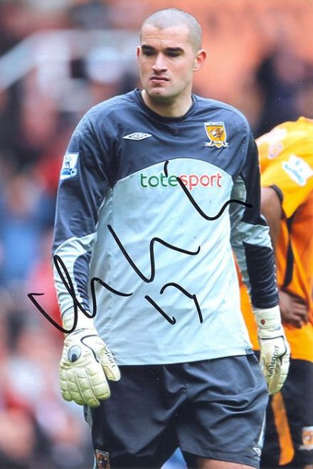 Boaz Myhill, Hull City, signed 6x4 inch photo.(2)